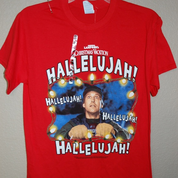 Christmas Vacation Hallelujah.Nwt Christmas Vacation Chevy Chase T Shirt Size S Nwt